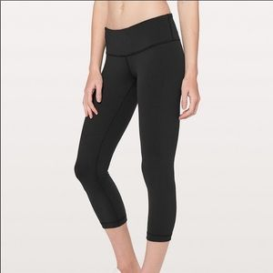 Lululemon Athletica Wunder Under Crop Leggings